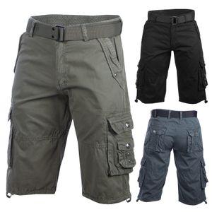 Trisens Herrenshorts Bermuda Kurze Hose, Farbe:Dunkelblau, Größe:W38 /XXL