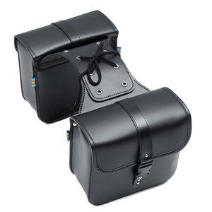 AUDEW 2x Motorrad Satteltasche Seiten Gepäcktasche Werkzeugtasche Universal Wasserfest
