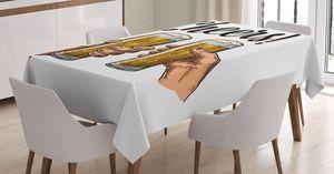 ABAKUHAUS Alkohol Tischdecke, Zwei Hände Bier Beifall, Für den Inn und Outdoor Bereich geeignet Waschbar Druck Klar Kein Verblassen, 140 x 240 cm, Mehrfarbig