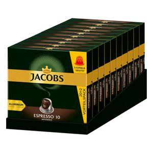 JACOBS Kapseln Espresso 10 Intenso 10 x 20+2 Nespresso®* kompatible Kaffeekapseln