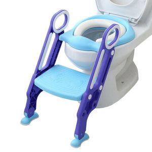 VINGO 3 in 1 Toilettentrainer Kinder Toilettensitz Baby Lerntoepfchen Faltbar Leiter