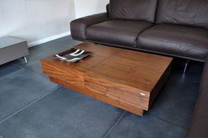 Design Couchtisch Tisch S-70 Nussbaum / Walnuss Schublade Stauraum Carl Svensson