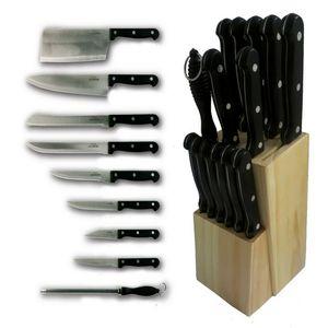 Michelino 15 teiliges Messer-Set inkl. Holzmesserblock