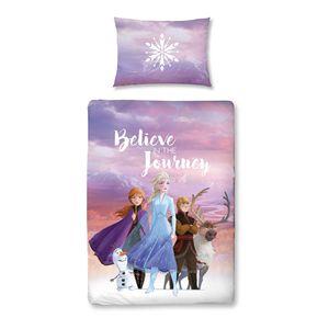 Disney Frozen 2 Baby-Bettwäsche 40x60 + 100x135 cm · Eiskönigin II Kinder-Bettwäsche Elsa und Anna - 100% Baumwolle