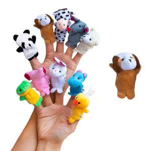 Oblique Unique Fingerpuppen Handpuppen Baby Tier Set zum Spielen und Lernen
