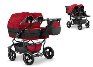 Zwillingskinderwagen Duet Lux 2 in 1 (D-14) – Kinderwagen, Sportsitz und Zubehör