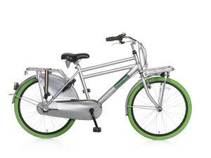 Popal Kinderfahrräder Jungen Daily Dutch Basic+ 24 Zoll 42 cm Jungen 3G Rücktrittbremse Grau/Grün