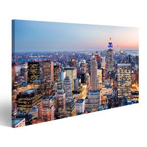 Bild Bilder auf Leinwand New York City, USA Wandbild, Poster, Leinwandbild QOH