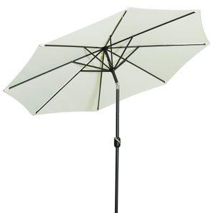 Gartenfreude Sonnenschirm - Ø 300 cm - H 250 cm, creme; 4900-1005-100