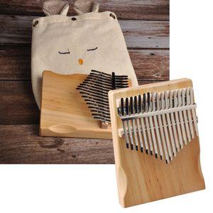 Kalimba 17 tasten daumen klavier tragbares finger klavier hohe qualität 13x18cm Holz