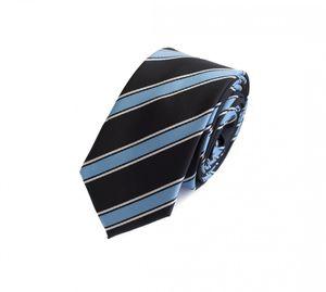 Schlips Krawatte Krawatten Binder 6cm schwarz blau weiß gestreift Fabio Farini