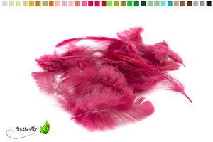 Bastelfedern 5-10cm, ca. 80-100 Stück, Farbauswahl:weinrot / bordeaux 270