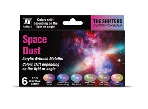 Vallejo Colorshift Set Space Dust 77091 6x 17ml Airbrush Farbe