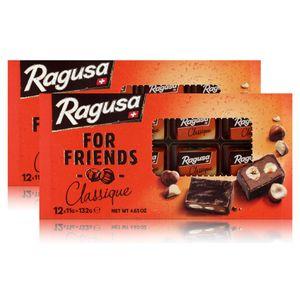 Ragusa for Friends Classique - Schokolade mit Praliné-Füllung 132g (2er Pack)