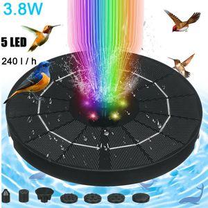 RGB LED Solarpumpe Solar Springbrunnen Fontäne Teichpumpe Teich Wasserspiel