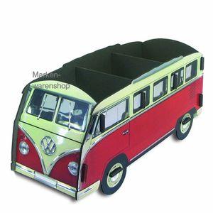 Werkhaus - CD-Box, CD-Halter, CD-Ständer für 30 CDs, VW Bulli Bus, Rot