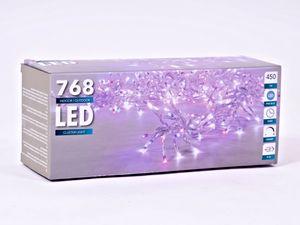 Cluster Light - 768 LED Lichterkette - Farbe: pink/blau - 450 cm