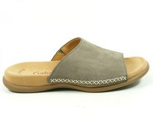 Gabor 03-705 Schuhe Damen Pantoletten Nubuk, Schuhgröße:38, Farbe:Grau