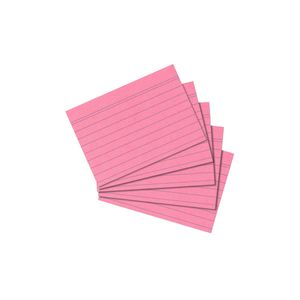 500 Herlitz Karteikarten DIN A8 / liniert / Farbe: rosa