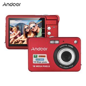 Andoer 18M 720P HD Digitalkamera Video Camcorder mit 2 Akkus 8X Digitalzoom Anti-Shake 2,7 Zoll LCD Kinder Weihnachtsgeschenk