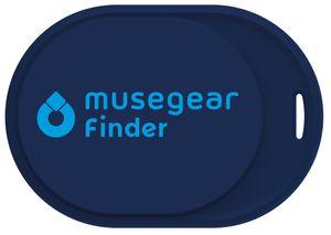 Musegear® Schlüsselfinder mini mit Bluetooth App I Keyfinder laut für Handy in dunkelblau I GPS Ortung / Kopplung I Schlüssel finden