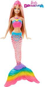 Barbie Dreamtopia Regenbogenlicht-Meerjungfrau Puppe (blond), Anziehpuppe
