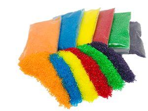 Einhorn Dekorzucker Glitzerzucker Farbzucker Zucker Set 6 x 100g Orange Blau Gelb Rot Grün Lila