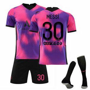 2021/22 Paris Saint-Germain Auswärt Trikot MESSI #30 Sportbekleidung-Sets, Größe: S