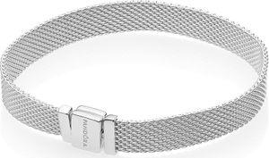 PANDORA REFLEXIONS Mesh Armband 597712 Sterling Silber 17-19cm 18