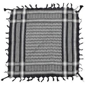 Bandana Palituch - schwarz - weiß - Kufiya PLO Kopftuch 55 x 55 cm