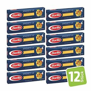 Barilla Spaghetti Nummer 5 Hartweizen Pasta 500g 12er Pack