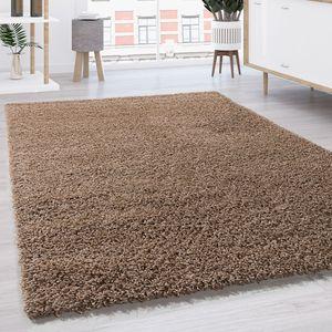 Hochflor Shaggy Langflor Teppich versch. Farben u. Grössen TOP PREIS NEU*OVP, Grösse:80x150 cm, Farbe:Beige