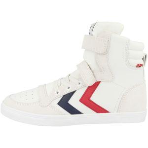hummel Slimmer Stadil Kinder Leder High Sneaker white 38