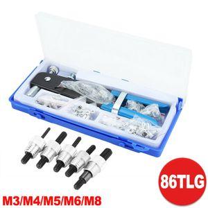 86-tlg Nietenzange Nietmutternzange Blindnietmutter Einnietmuttern M3 - M8 Nietmutter Gewindenieten Werkzeug Set