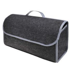 Kofferraumtasche Filz Kofferraum Organizer Grau Rücksitztasche mit Klett Toolbag