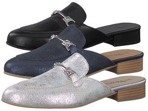 Tamaris Pantolette 1-27316-20 Damen Leder Sabot Clogs, Größe:37 EU, Farbe:Blau