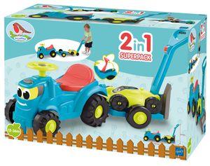 Ecoiffier Kindertraktor mit Anhänger und Rasenmäher