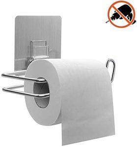 Edelstahl Toilettenpapier Halter ohne Bohren selbstklebend WC Papier Klorolle