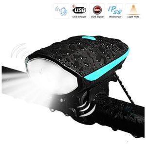 Fahrradlicht-Set, USB wiederaufladbares Fahrradlicht, sofortige Installation, passend für alle Fahrräder – 3 Modi, Fahrradbeleuchtung vorne und hinten Beleuchtung, wasserdicht, leicht, langlebig