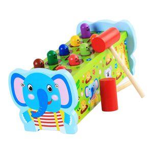 Klopfbank Holz Hammerspiel Hammerbank Kinder Holzspielzeug 3 Jahre Geschenk zum Hämmern und Klopfen