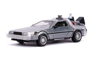 Dickie Toys Time Machine Back to the Future 2 1:24 Die-cast Spielzeugauto mit zu öffnenden Türen, 253255021