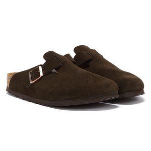 BIRKENSTOCK Boston Clogs Pantoffel Hausschuhe Braun Schuhe, Größe:43