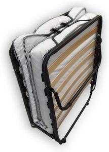 Dibapur® Gästebett: 80 x 190 cm Klappbett mit Matratze Faltbett mit Stabilen Metal-Rahmen bis ca. 100 Kg Belastung