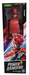 Hasbro Power Ranger Beast Morphers Beast-X Devon Actionfigur rot 30 cm
