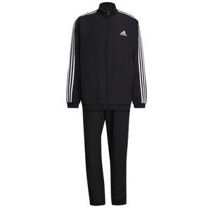 adidas Trainingsanzug Woven Männer 3 Streifen schwarz, Größe:9 [XL] 56, Farbe:Schwarz