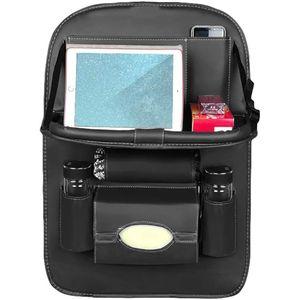 Auto Rücksitz Veranstalter Tablett Multi Taschen Aufbewahrungshalter Reisen,Farbe: Schwarz