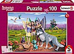 Schmidt Spiele Puzzle 56335 Land der Elfen und Drachen, Schleich-Bayala, Kinderpuzzle, 100 Teile, bunt