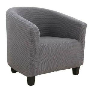 1 Sitzer Sesselhussen Sesselbezug Stretch Elastisch Sofahusse Sofabezug Sesselschoner Couch Husse Sofaüberwurf Grau 65-90cm