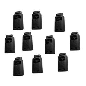 Kordelstopper Cord Locks, 10 Stück Schwarz L