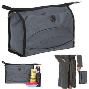 Kulturbeutel Kulturtasche groß Herren Männer Damen Elephant Colors Washbag Sport Reise Sauna Tasche 1290 Grau +b